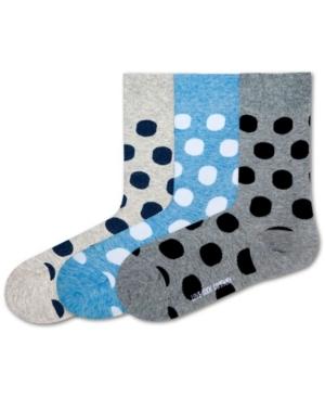 Big Polka Bundle Women's 3 Pack Organic Cotton Polka Dots Dress Socks