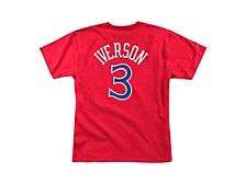 Philadelphia 76ers Men's Hardwood HD Print Player T-Shirt  Allen Iverson