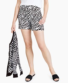 Zebra-Print Shorts, Created for Macy's