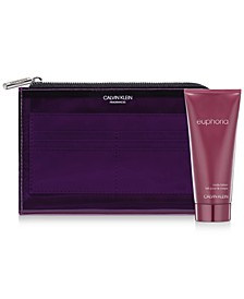 Receive a Complimentary 2pc Gift with any large spray purchase from the Calvin Klein Euphoria Fragrance Collection