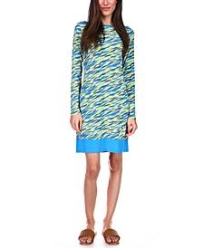 Printed Banded-Hem Dress, Regular & Petite