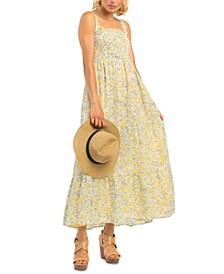 Petite Smocked Tiered Maxi Dress