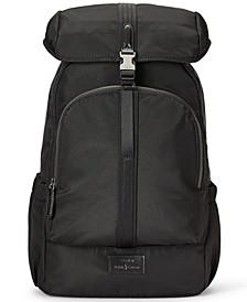 Men's Leather-Trim Backpack