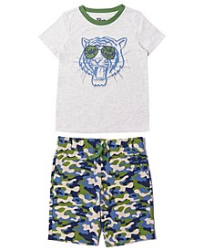 Little Boys Graphic Tee and Shorts Set