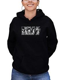 Women's Word Art Kiss Logo Hoodie