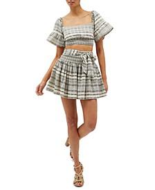 Tidal Cotton Mini Skirt