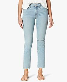 Lara Cropped Distressed Denim Jeans