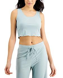 Cropped Rib-Knit Sleep Tank Top, Created for Macy's