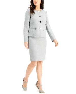 Metallic Tweed Skirt Suit