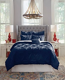 Pointehaven Knotted Pintuck Queen Comforter Set, 6 Piece