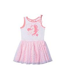 Toddler Girls Graphic Bow Strap Tutu Dress