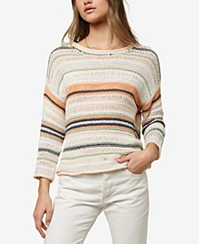 Juniors' Salty Striped Sweater