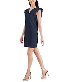 Petite Lace Pom-Pom Dress, Created for Macy's