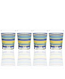 Fiesta Lapis Stripe Set of 4 Double Old-Fashioned Glasses