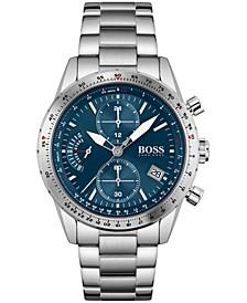 Men's Chronograph Pilot Stainless Steel Bracelet Watch 44mm