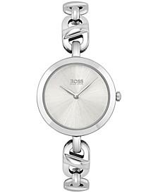 Women's Chain Stainless Steel Bracelet Watch 28mm