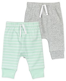 Baby Boys Pant with Mint Stripes, 2 Pack