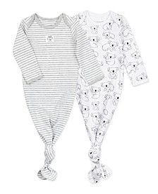 Baby Boys or Girls Gown with Koala Print, 2 Pack