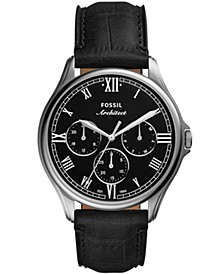 Men's Arc-02 Brown Leather Strap Watch 44mm