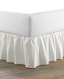 Solid White Ruffled Bedskirt, Full