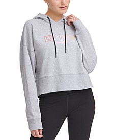 Ombré-Logo Cropped Hoodie