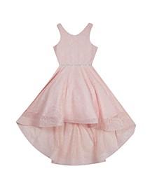 Big Girls Glitter Hi Low Dress