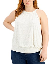 INC Plus Size Cotton Halter Top, Created for Macy's