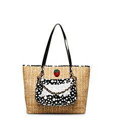 Strawberry Fields Tote with Shoulder Bag
