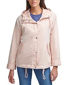 Drop Shoulder Hooded Raincoat