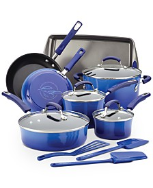 Classic Brights Hard Enamel Nonstick 14-Pc. Cookware Set
