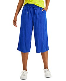 Petite Cropped Soft Pull-On Pants, Created for Macy's