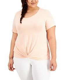 Plus Size Twist-Hem T-Shirt, Created for Macy's