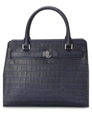 Lauren Ralph Lauren Fenwick Embossed Leather Medium Satchel