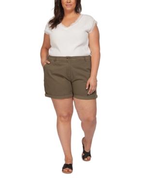 Plus Size Solid Basic Shorts