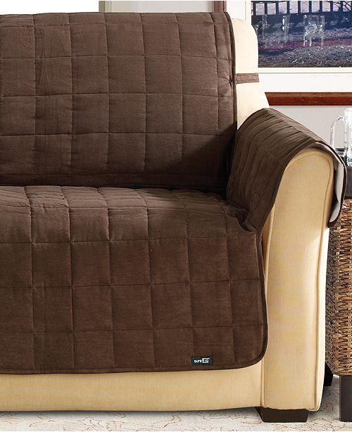 Sure Fit Soft Faux Suede Waterproof Pet Sofa Slipcover