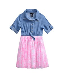 Bebe Little Girls Denim Tutu Dress