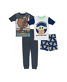 Mandalorian Little Boys 4 Piece Cotton Pajama Set
