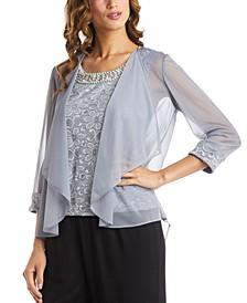 Glitter Lace Top & Jacket