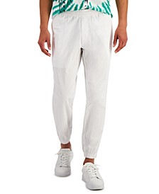 Men's Cropped Textured Ripstop Pants, Created for Macy's