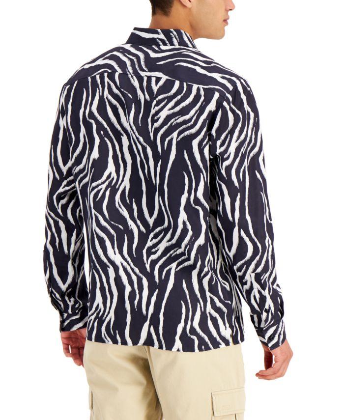 INC International Concepts INC Men's Zebra-Print Shirt, Created for Macy's  & Reviews - Casual Button-Down Shirts - Men - Macy's