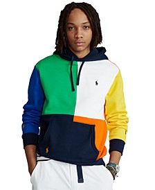 Men's Color-Blocked Fleece Hoodie