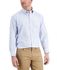Men's Classic/Regular Fit Stretch Wrinkle-Resistant University Stripe Dress Shirt, Created for Macy's