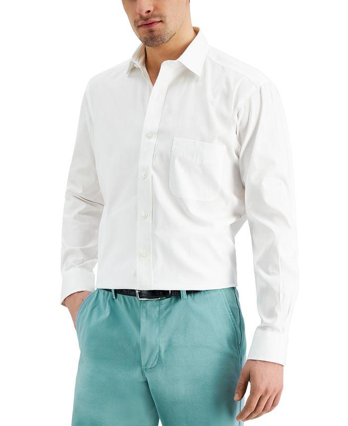 Club Room - Men's Classic/Regular Pinpoint Dress Shirt