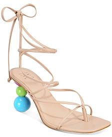 INC Lillias Lace-Up Sandals, Created for Macy's