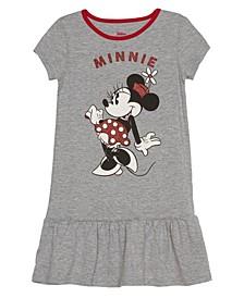 Little Girls Minnie Mouse Short Sleeve Dress