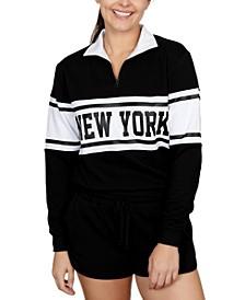 Juniors' New York Graphic-Print Fleece Sweatshirt