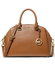 Maxine Leather Dome Satchel