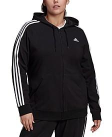 Essentials Plus Size 3-Stripe Knit Hoodie