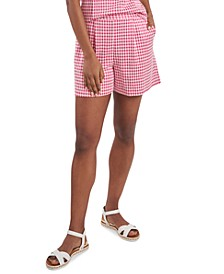 Shelby Gingham Pleated Shorts, Created for Macy's