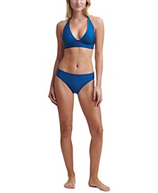 Triangle Halter Bikini Top & Bottoms